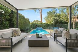 Outside Landscape Pool Design Sydney