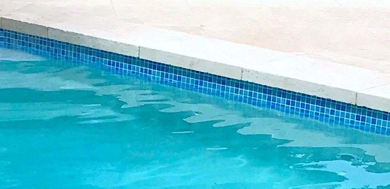 Pool copping and waterline tile